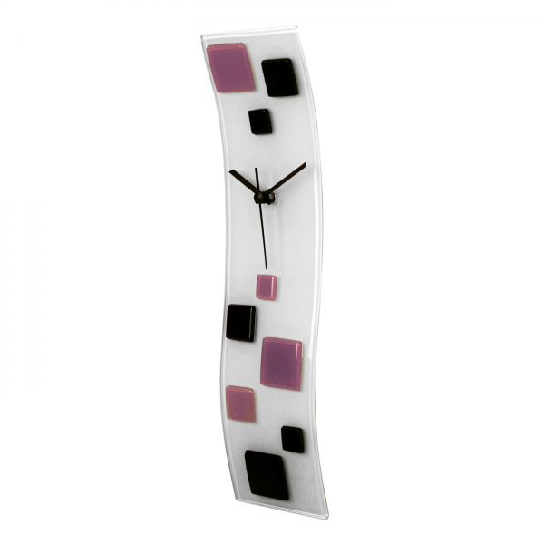 River City Clocks Wave Glass Art Wall Clock with Squares | ATG Stores