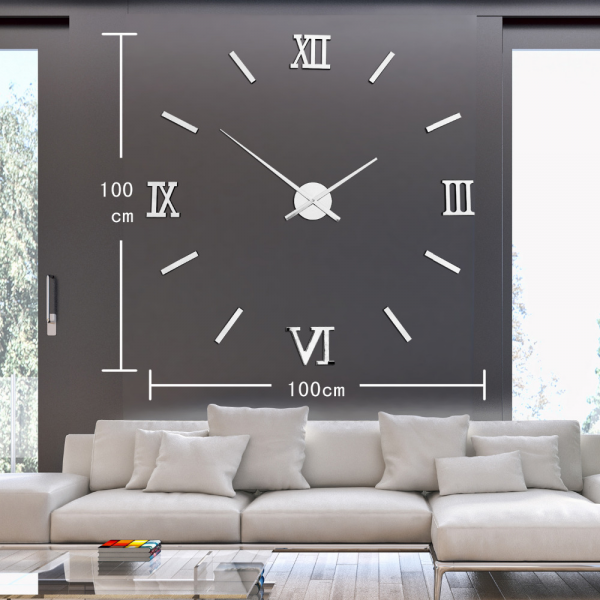 -Rome-number-mirror-wall-clock-Modern-design-large-decorative-wall ...