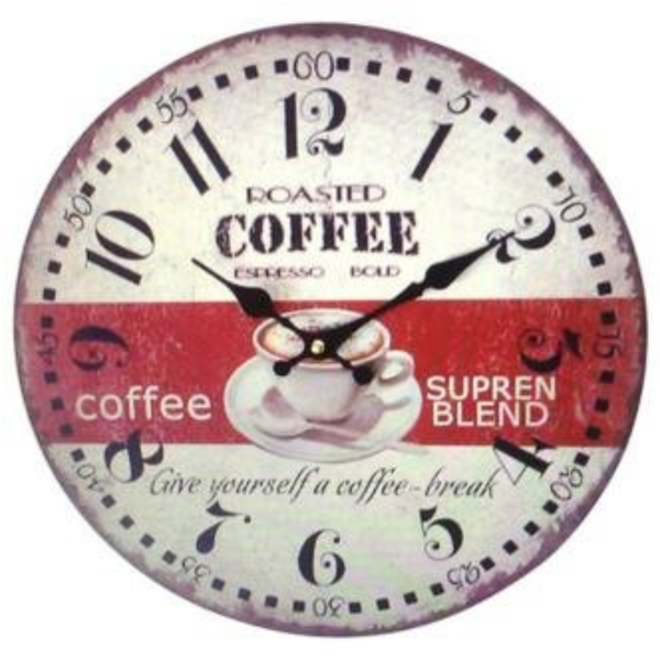 Creative Motion Wall Clock Supreme Blend Coffee
