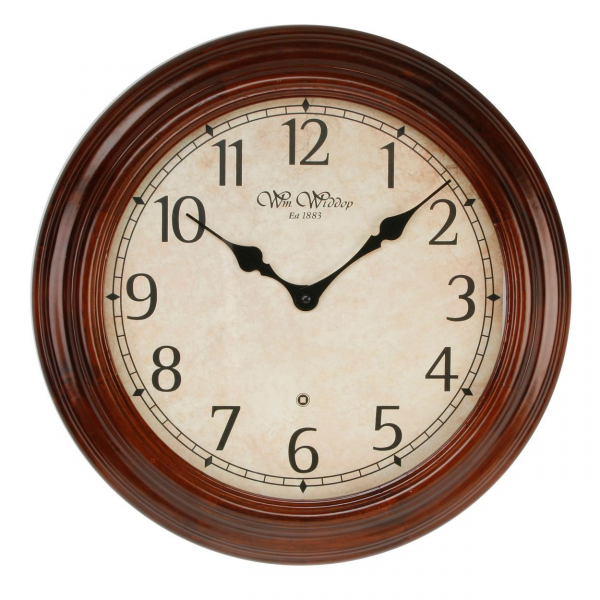 Solid Wood Wall Clock Walnut St Pancreas 40cm Arabic