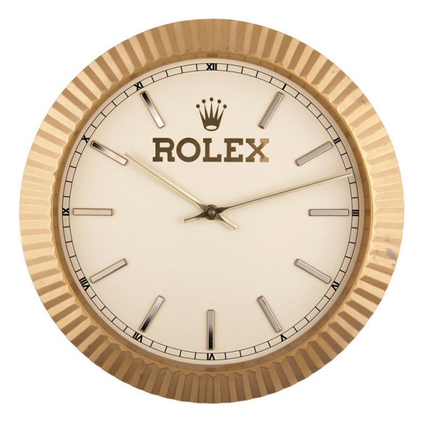 Rolex Wall Clock circa 1980s at 1stdibs