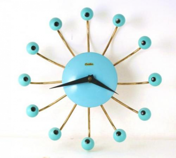 ... spider wall clock (electric, late 1950s) | The Canadian Clock Museum