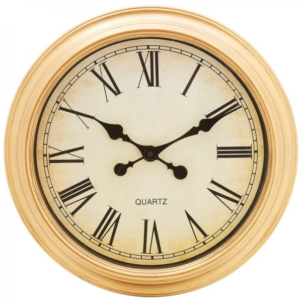 Wall Clocks - Brookwood Antique Style Replica 16 Inch Round Wall Clock