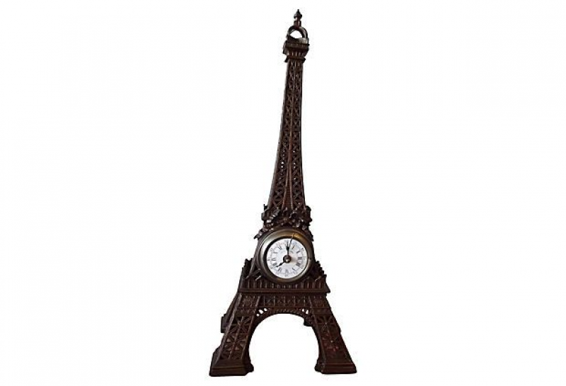 19th-C. Eiffel Tower Souvenir Clock from France
