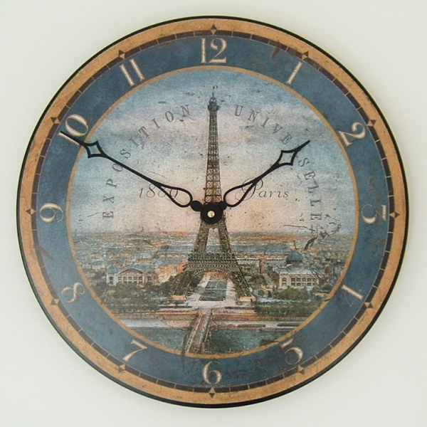Eiffel Tower Wall Clock / reproduction