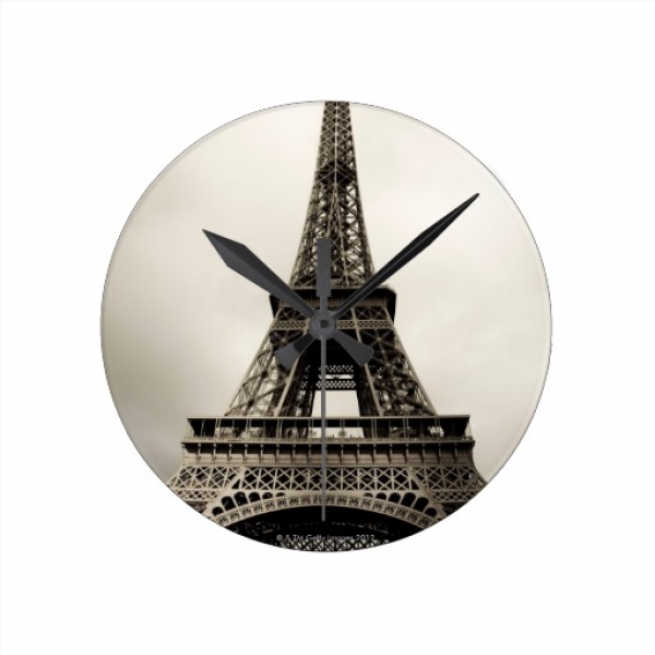 Eiffel Tower 8 Wall Clocks | Zazzle