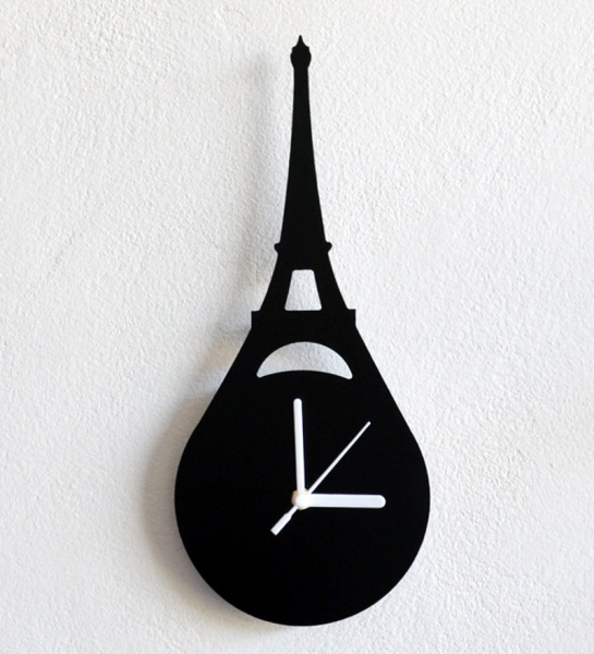 -eiffel-tower-paris-france-wall-clock-silhouette-eiffel-tower ...