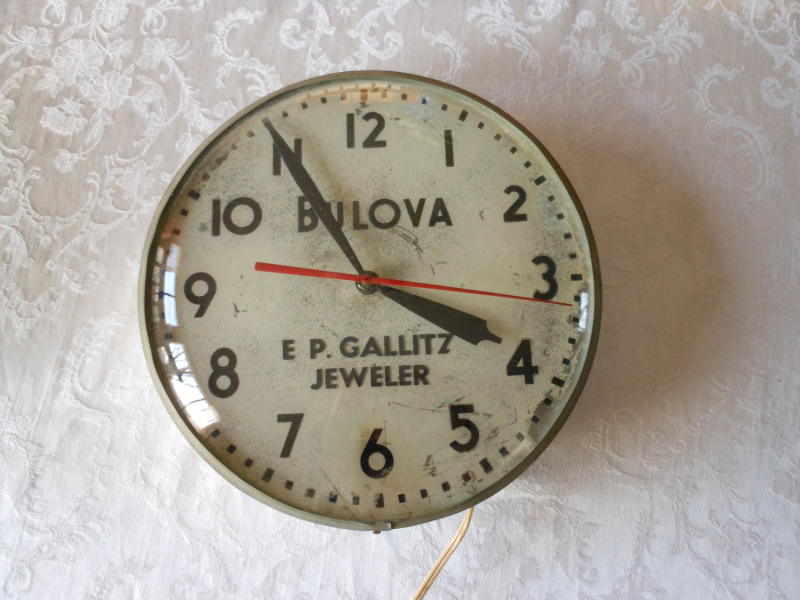 Vintage Industrial Bulova Wall Clock by 2cool2toss on Etsy