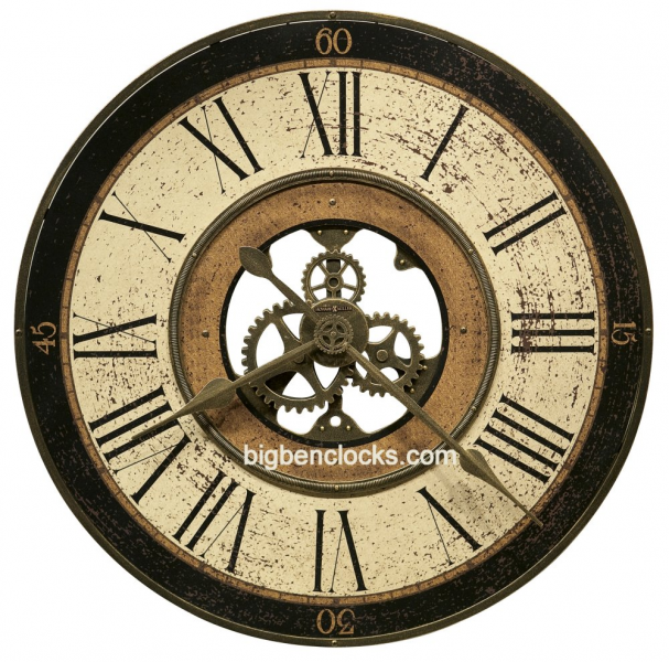 Howard Miller wall clock 625-542 Brass Works