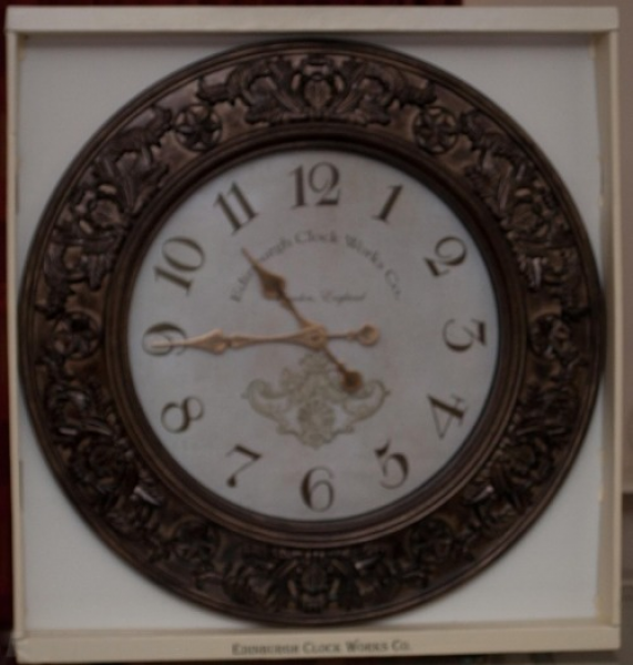 Large Edinburgh Clock Works Co Wall Clock For Sale in Whitehall ...