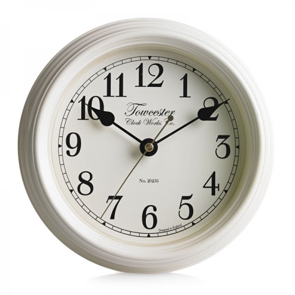 Towcester Clock Works Co. Emberton Wall Clock Cream at Barnitts Online ...