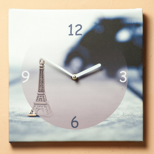 Art Wall kitchen clock on canvas Paris. Nice wall kitchen clocks ...