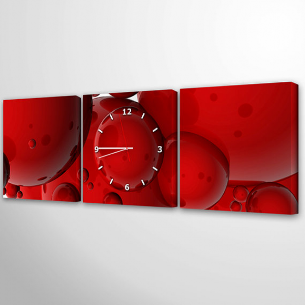 modern wall clock canvas art unique clock wall art canvas print UHR036