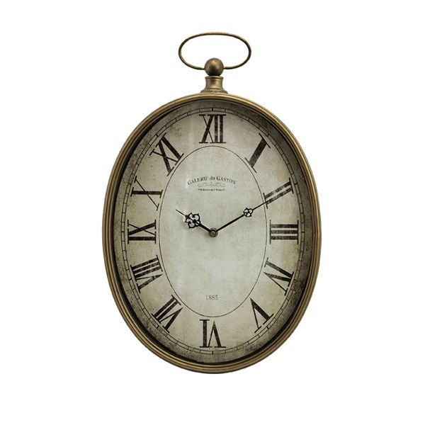 ... Oversized Pocket Watch Style Roman Numeral Wall Clock Clocks