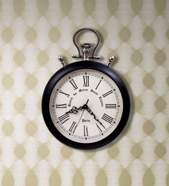Oversized Pocket Watch Wall Clock by Home Sparkle Online - Pocket ...