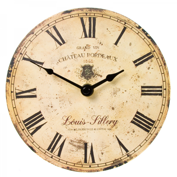 Vintage Wine Wall Clock 17CM 6256