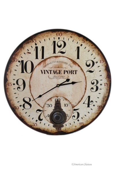 Large 23 Vintage Port Wine Pendulum Wall Kitchen Clock | eBay