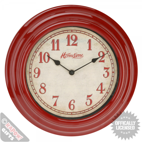 Vintage Wall Clock Red Shabby Chic Timepiece Distressed Farm Retro ...