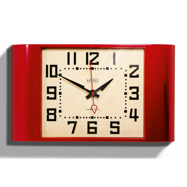 ... are here: Home Home Accessories Clocks Red Retro Wall Clock - Metro