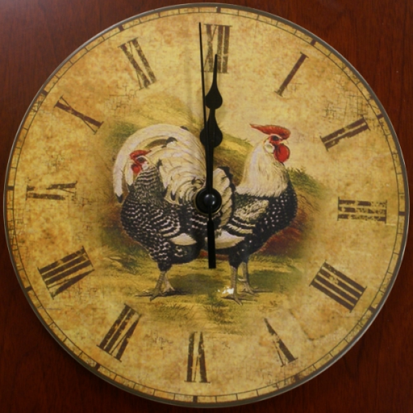Rooster Wall Clock - Rustic Antique Look : Rustic Home Decorating ...