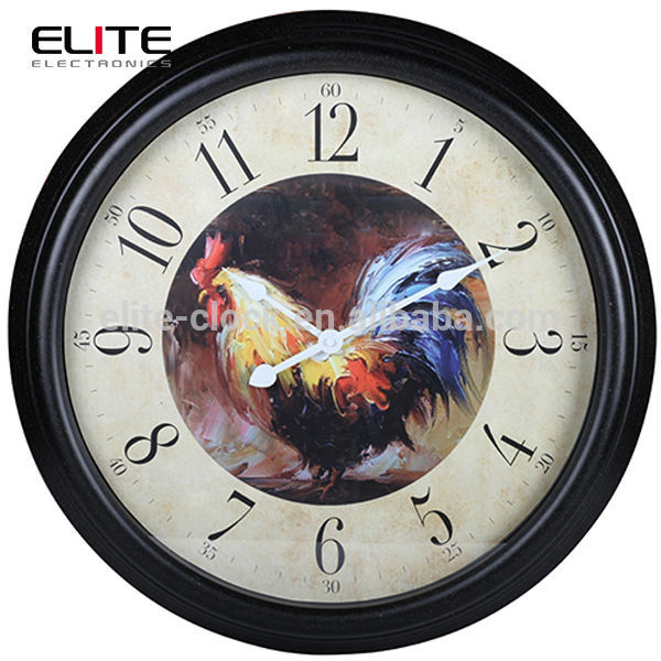 ... audit rooster clock dial country design big vintage wall clocks