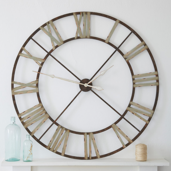 large iron clock - Eclectic - Wall Clocks - london - by rigby & mac
