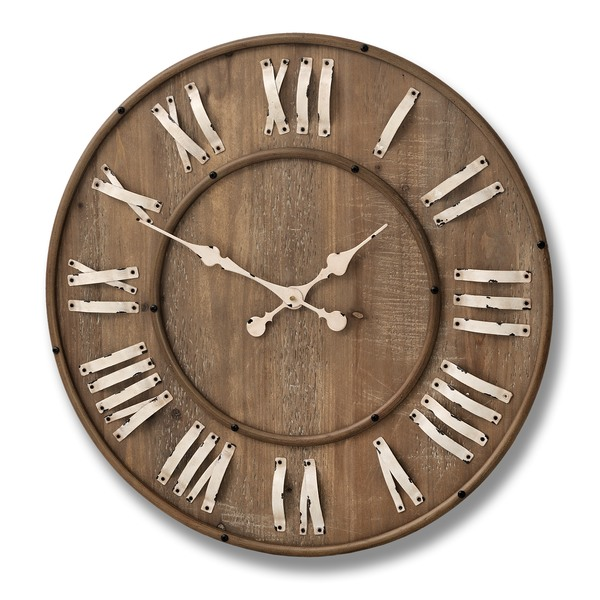 Large Wooden Wall Clock