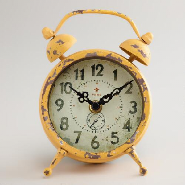 Yellow Vintage-Style Magnet Clock | World Market