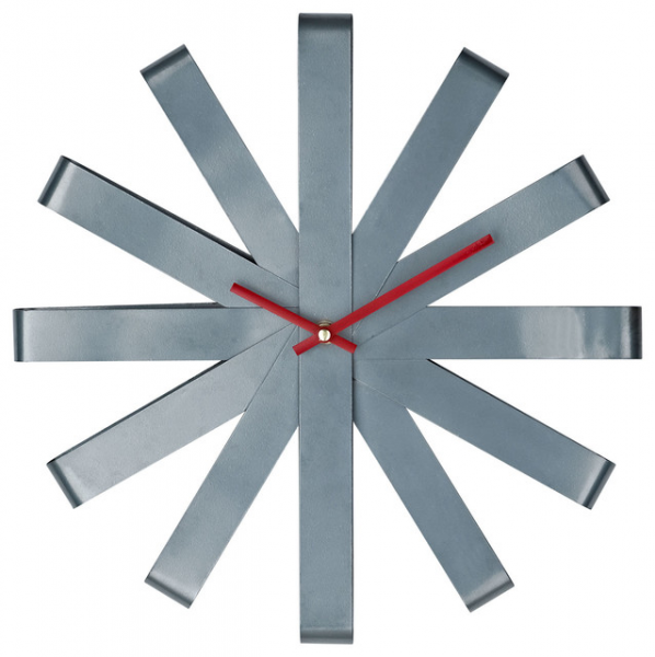 Stainless Steel Ribbon Wall Clock - Modern - Clocks - by Dexter Sykes