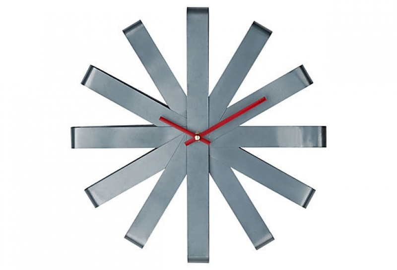 Ribbon Stainless Steel Wall Clock on OneKingsLane.com