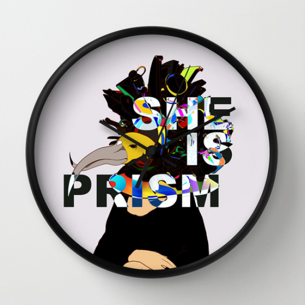 SHE IS PRISM Wall Clock by Kasi Minami | Society6