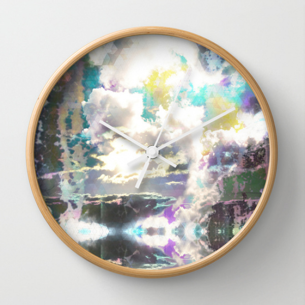 Prism Bubble Bursting Wall Clock by Ben Geiger | Society6