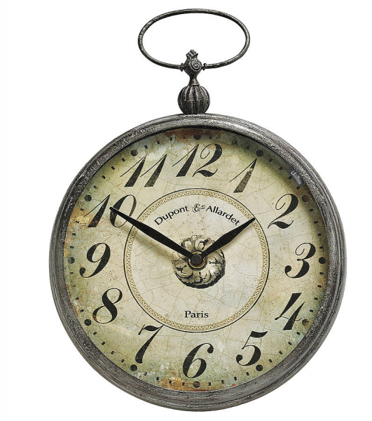 pocket watch style wall clock by nordal by bell & blue ...