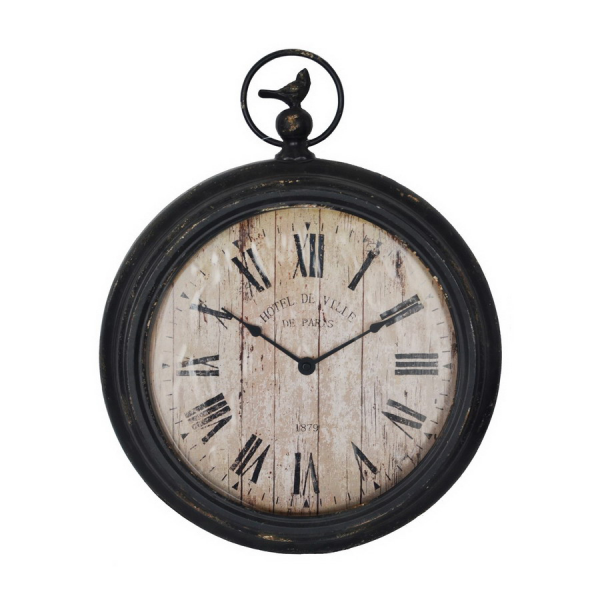 ... Black Roman Numeral Pocket Watch Wall Clock Antique Black Clock at