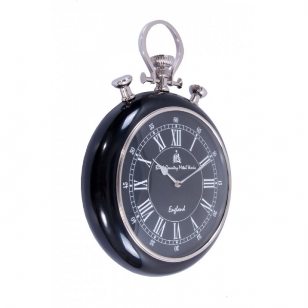 Pocket Watch Wall Clock with black face and Surround - Wall Clocks ...
