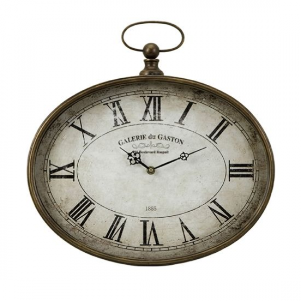 ... Antique-Style Oversized Pocket Watch Roman Numeral Wall Clock Clocks