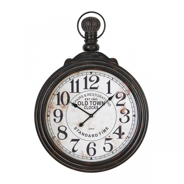 ... Accents 52107 Pocket Watch Style Large Wall Clock at Decor Universe