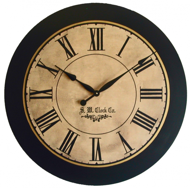 Large Wall Clock 30 inch Lexington Antique Style by Klocktime
