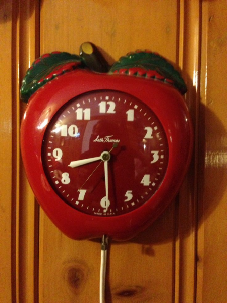 Vintage apple clock | Antique Addiction | Pinterest