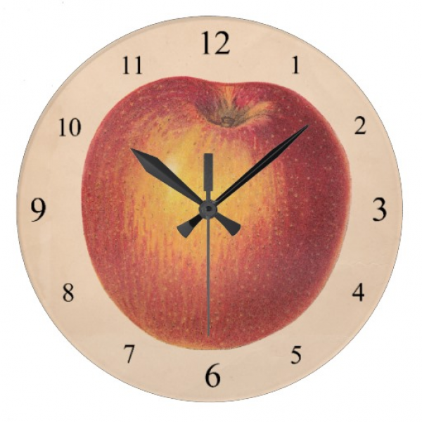 Vintage Apple Wall Clock | Zazzle