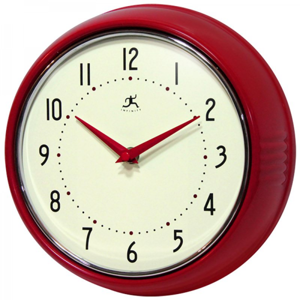Retro Red Solid Iron Wall Clocks
