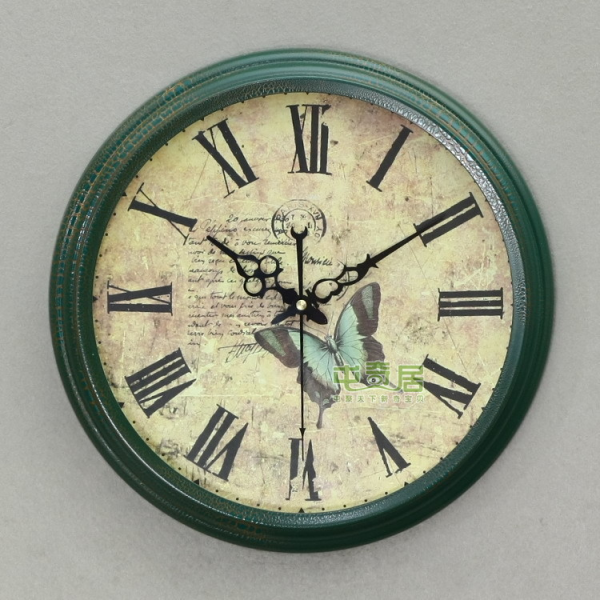 ... vintage-wrought-iron-wall-clock-silent-movement-iron-wall-clock-a1712