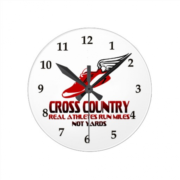 Cross Country Running Wall Clock | Zazzle