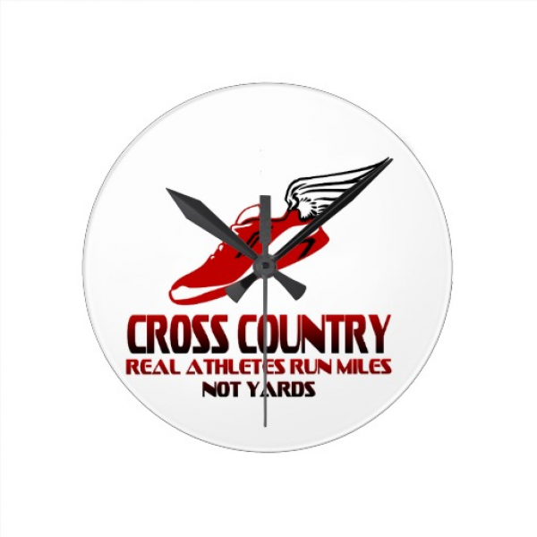 Cross Country Running Clocks | Zazzle