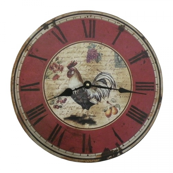 French Country Rooster Wall Clock | For the Home | Pinterest
