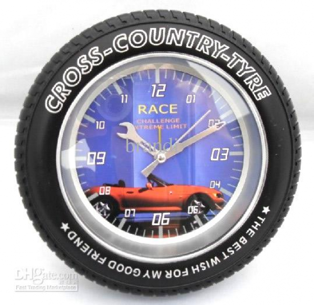 ... Creative Cross Country Tyre Car Tyre Tire Clock Hanger Clocks 8pcs