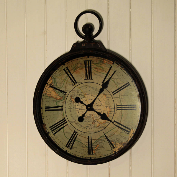 antique style pocket watch large wall clock by jones and jones of ...