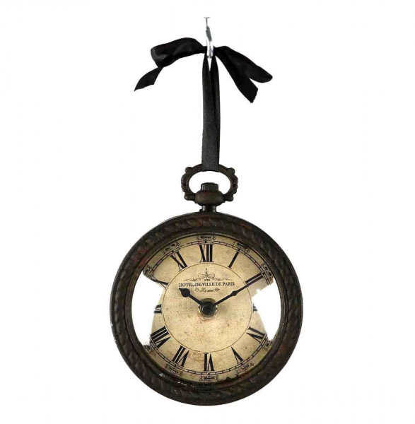 Vintage Round Pocket Watch Wall Clock