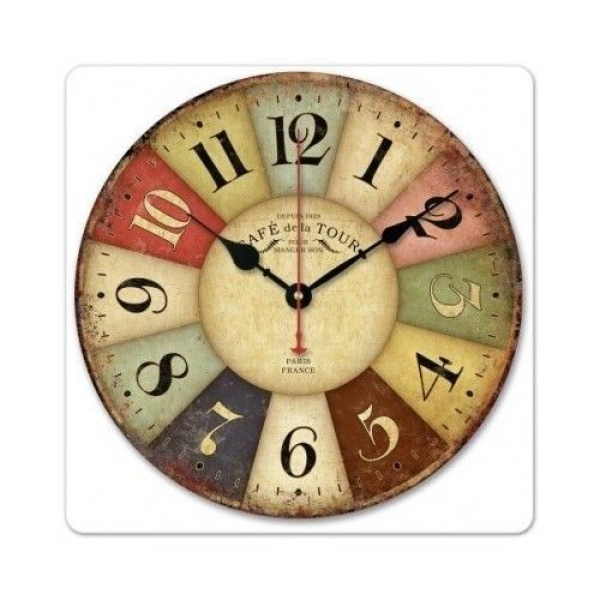 Wall Clock Vintage French Retro Tuscan Classic Paris France Country ...
