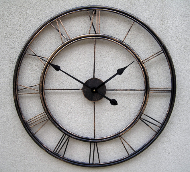 Details about HUGE Metal Wrought Iron French Provincial WALL CLOCK